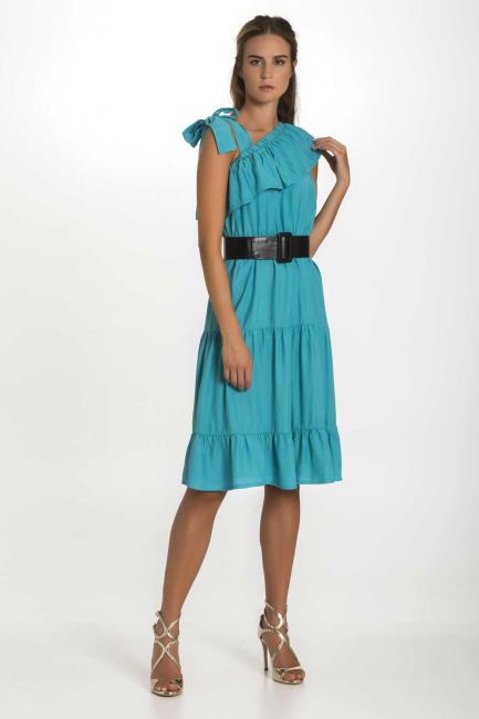 Dress Woman Cristina Gavioli CP1086 Turchese