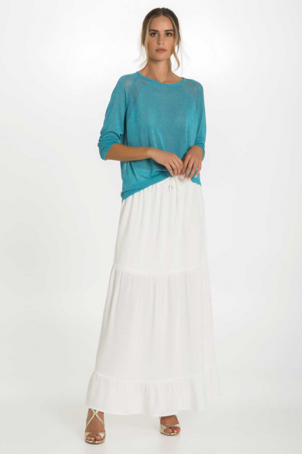 Skirt Woman Cristina Gavioli CP1087 Naturale