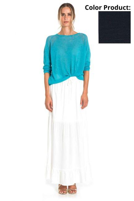 Skirt Woman Cristina Gavioli CP1087 Blu