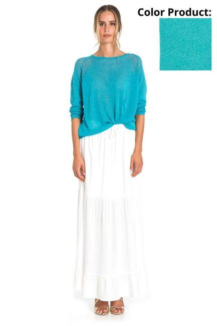 Skirt Woman Cristina Gavioli CP1087 Turchese