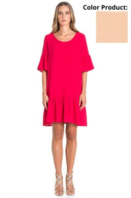 Dress Woman Cristina Gavioli CP1088 Cipria