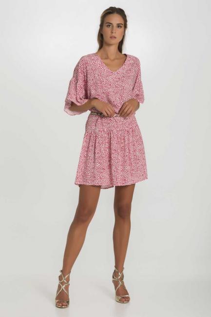 Dress Woman Cristina Gavioli CP1091 Geranio
