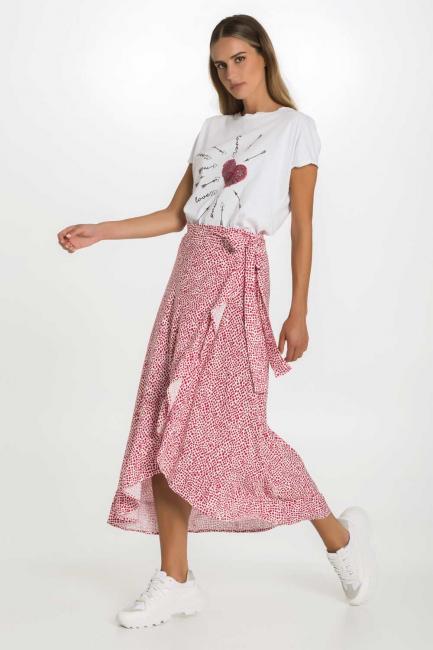 Skirt Woman Cristina Gavioli CP1092 Geranio
