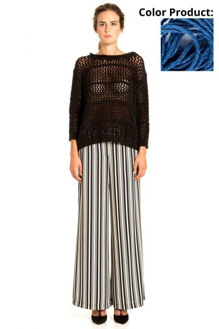 Sweater Woman Cristina Gavioli KP1025 Bluette