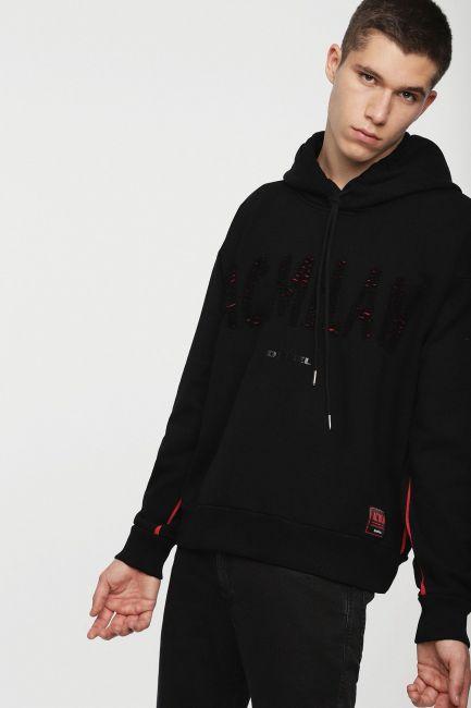 Men's sweatshirt Diesel black 00SSST0DAVT