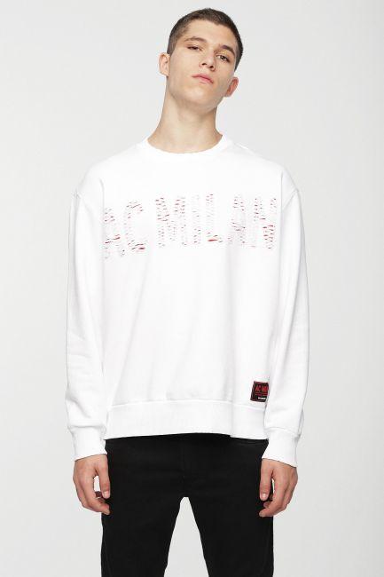 Men's sweatshirt Diesel white 00SSSZ0DAVT