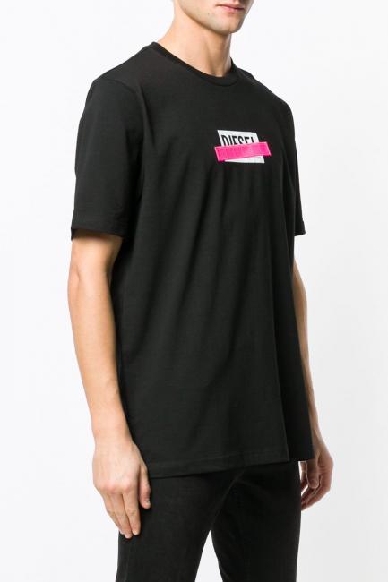 Men's T-Shirt Diesel Black 00SU2N0PATI