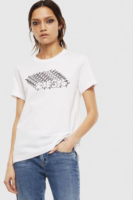 T-Shirt Donna Diesel Bianco 00SEMF0HERA