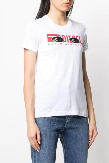 Women's T-Shirt Diesel White 00SBGN0HERA