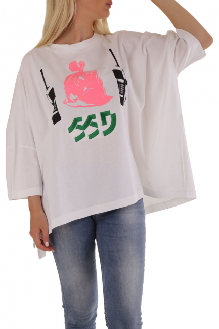 T-Shirt Donna Diesel Bianco 00SEMK0HERA