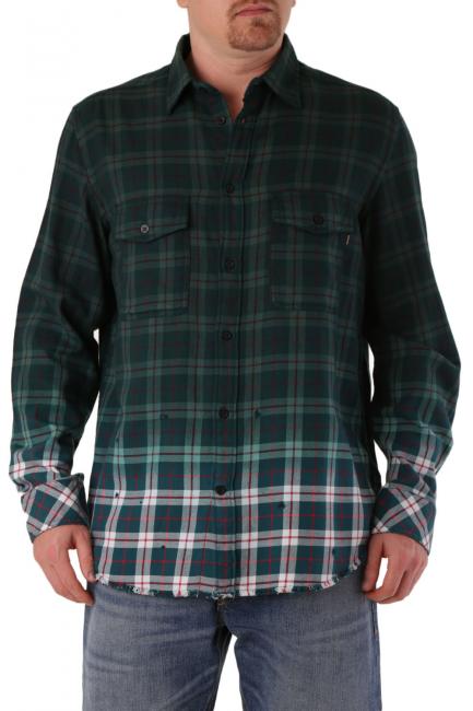 Men's Shirt Diesel Green 00SIJ90DATY