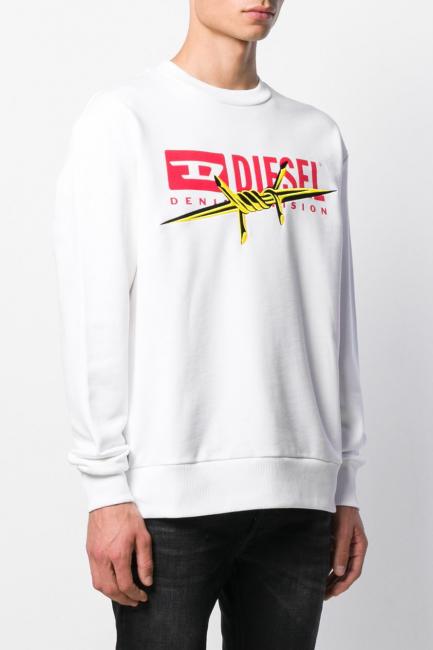 Men's Sweatshirt Diesel White 00S0300EAXH