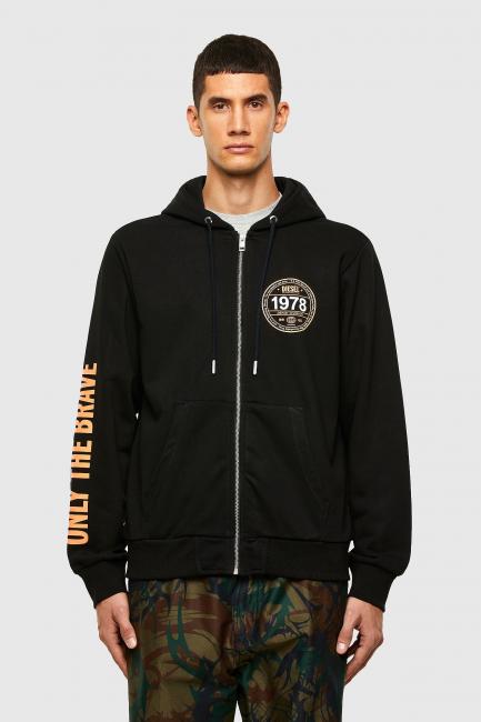 Men's Sweatshirt Diesel Black A007920HAYT