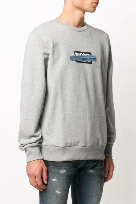 Men's Sweatshirt Diesel Grey A010470KASL