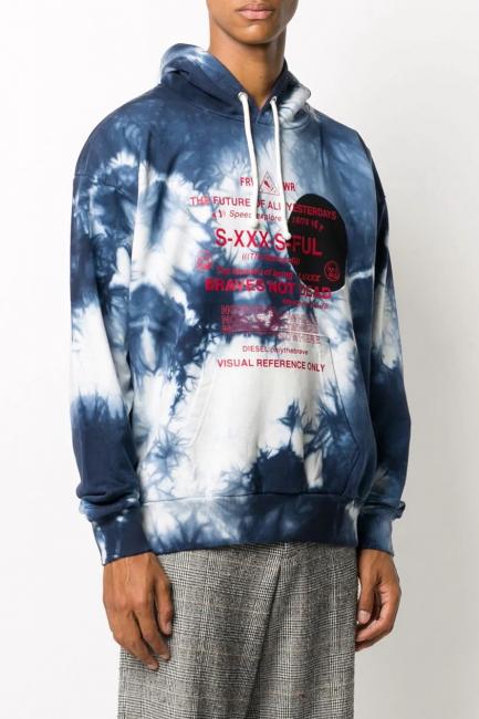 Men's Sweatshirt Diesel Blue A000790PAZQ