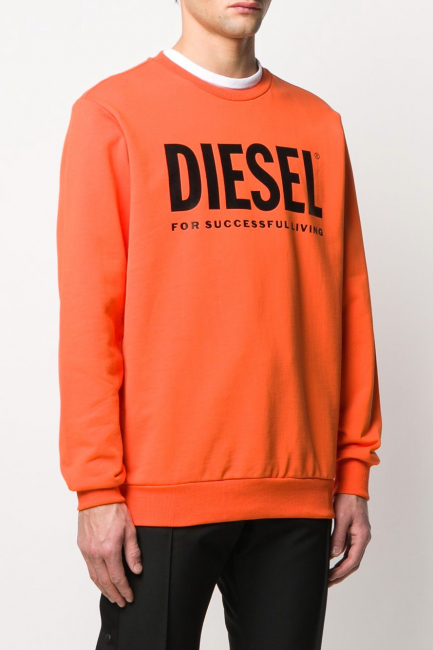 Men's Sweatshirt Diesel Orange 00SWFH0BAWT