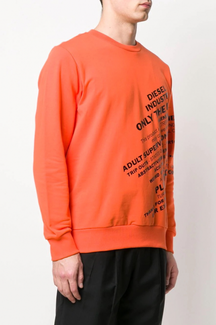 Men's Sweatshirt Diesel Orange 00SEF60KAXU