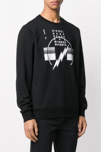 Men's Sweatshirt Diesel Black 00S4F70IAEG