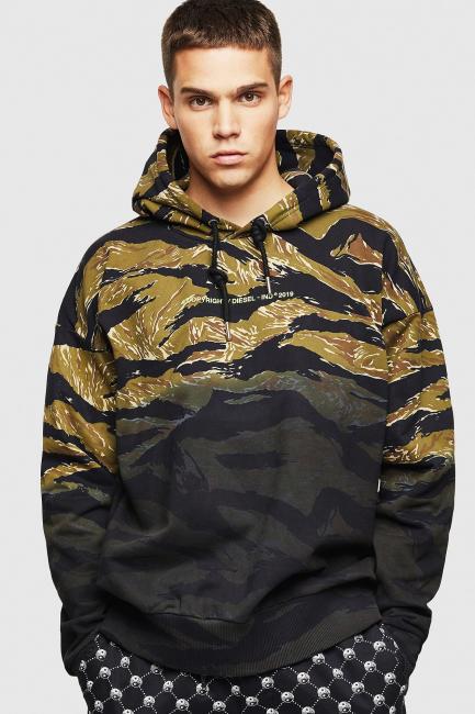 Men's Sweatshirt Diesel Black 00SYQY0AAWN