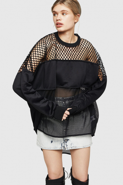 Women's Sweatshirt Diesel Black 00SZ2I0JAUY