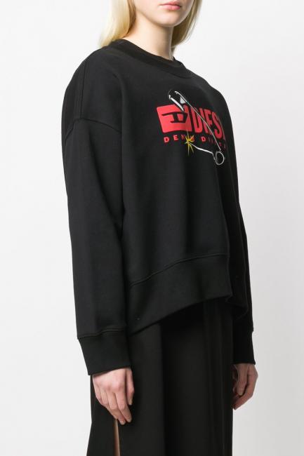Women's Sweatshirt Diesel Black 00S78P0IAJH