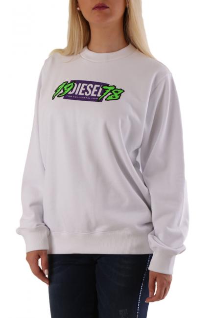Women's Sweatshirt Diesel White A008510HAYT