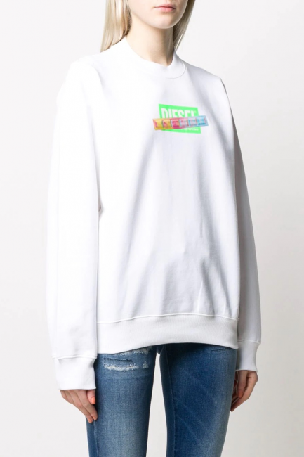 Women's Sweatshirt Diesel White 00SEN20IAJH