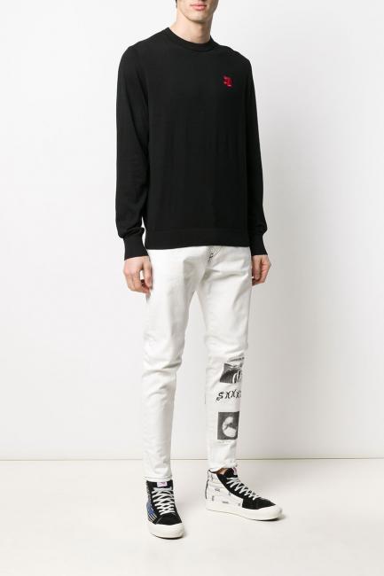 Men's Sweater Diesel Black 00SHEX0LAXU