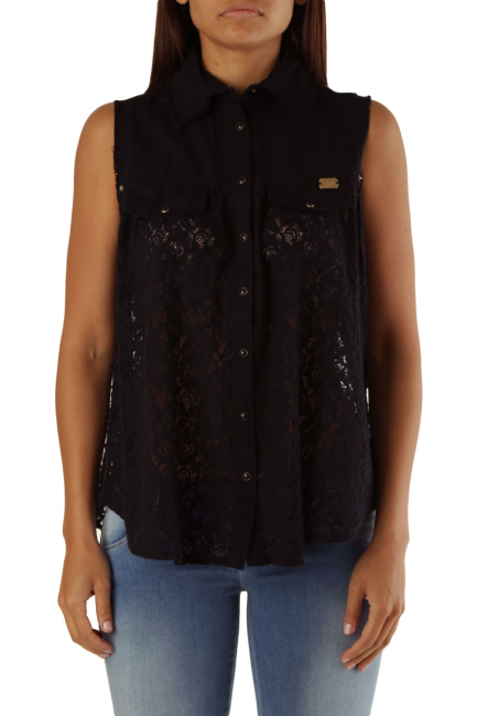 Blouse Met Woman BEBA Black