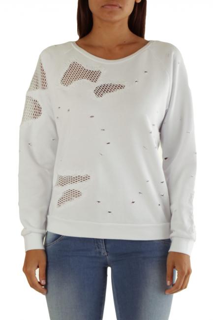 Sweatshirt Met Woman EATAB White