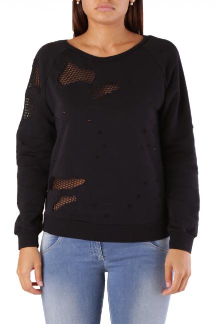 Sweatshirt Met Woman EATAB Black