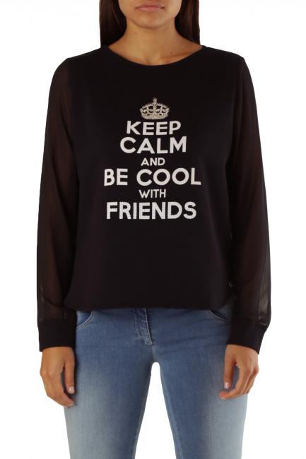 Sweatshirt Met Woman BADLY Black