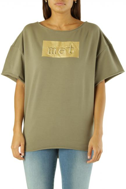 Sweatshirt Met Woman DAVIT/T Army Green
