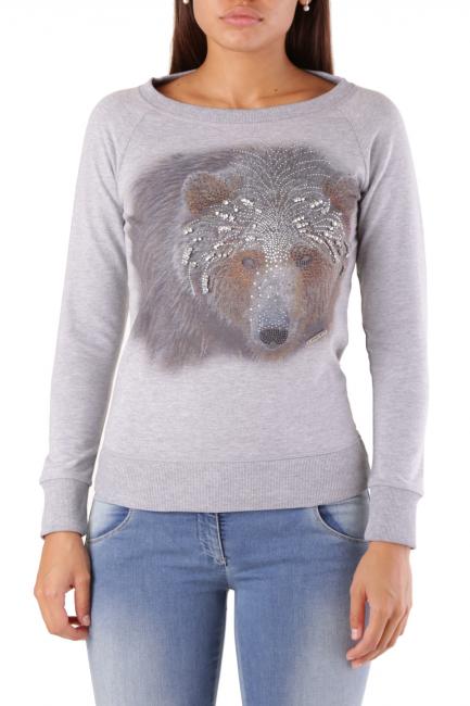 Sweatshirt Met Woman FLEURA/SB Grey