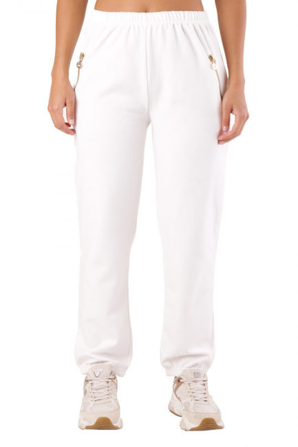 Pantalone Met Donna Bianco CYLLY