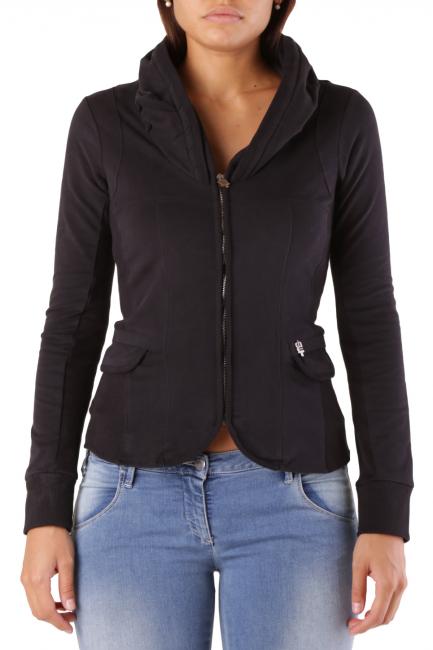 Fleece Jacket Met Woman COLLOROUGH Black