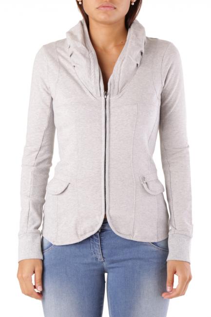 Fleece Jacket Met Woman COLLOROUGH Grey