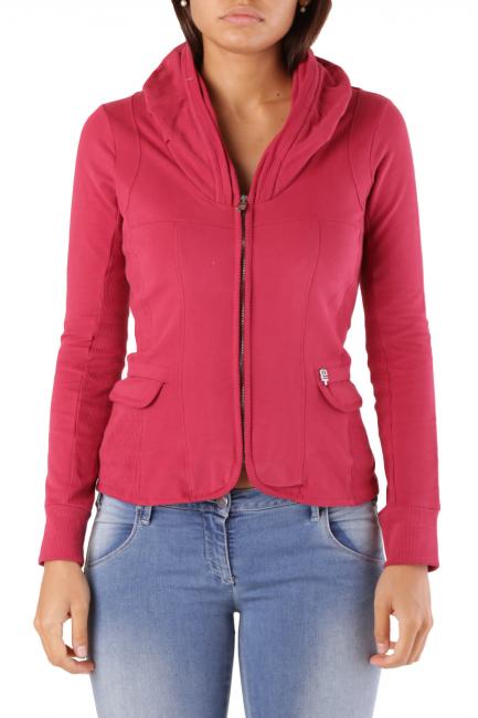 Fleece Jacket Met Woman COLLOROUGH Red