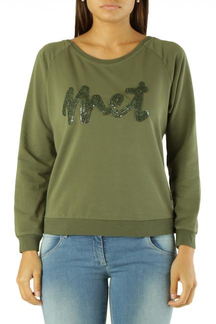 Sweatshirt Met Woman EATA Army Green