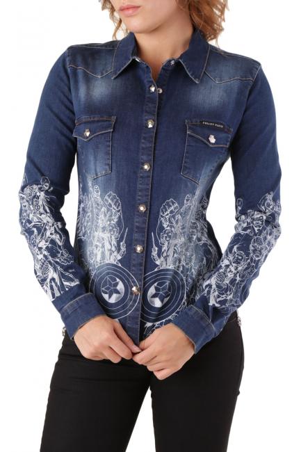 Women's Shirt Philipp Plein Blue CD042992