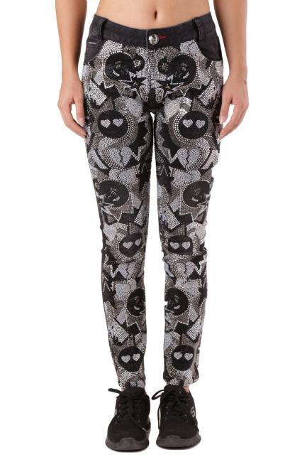Jeans Donna Philipp Plein Nero CW681896